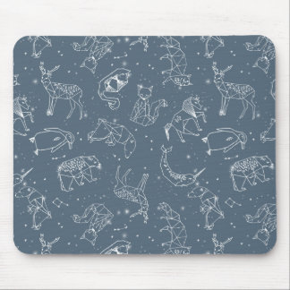 Constellations Zodiac / Blue Night / Andrea Lauren Mouse Pad