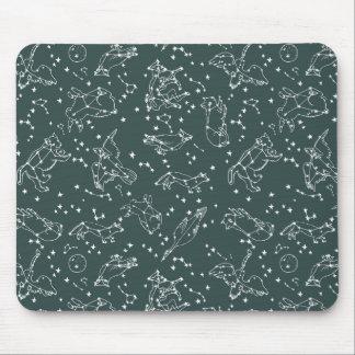 Constellations Zodiac / Grey Green / Andrea Lauren Mouse Pad