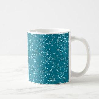 Constellations Zodiac Night Stars / Andrea Lauren Coffee Mug