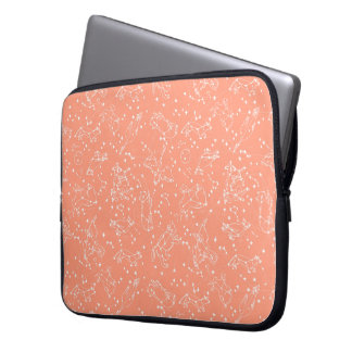 Constellations Zodiac / Peach/Blush /Andrea Lauren Laptop Computer Sleeves