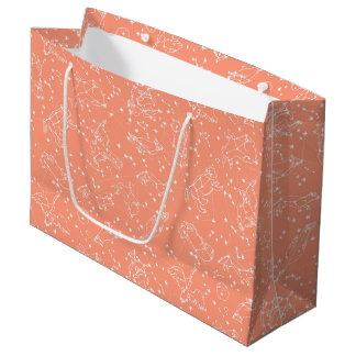 Constellations Zodiac / Peach/Blush /Andrea Lauren Large Gift Bag
