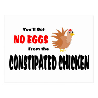 Constipated Chicken Postcard