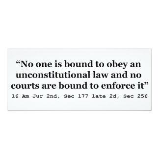 "Constitution 16 Am Jur 2nd Sec 177 late 2d Sec 256 4"" X 9.25"" Invitation Card"