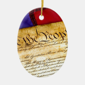 Constitution 4th Of July July 4th Independence Ceramic Ornament