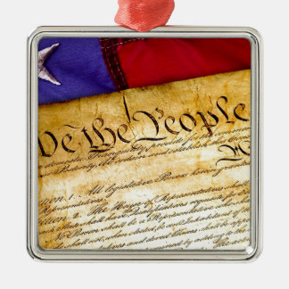 Constitution 4th Of July July 4th Independence Metal Ornament