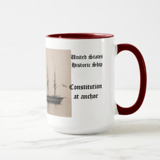 Constitution at anchor United States Historic ship Mug
