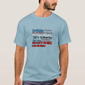 Constitution Bill of Rights Wording T-Shirt
