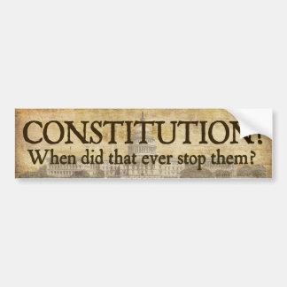 Constitution? Bumper Sticker