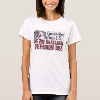 Constitution Defines U.S. 2nd Amendment Defends US T-Shirt