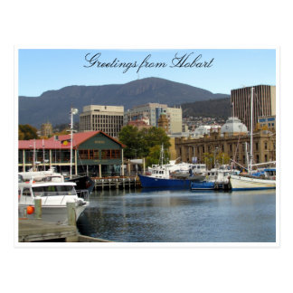 constitution dock hobart postcard