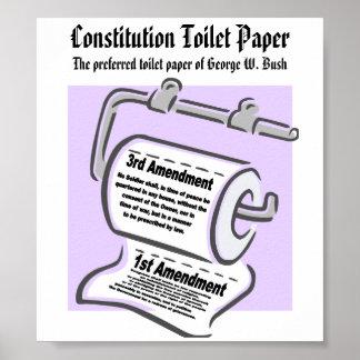 Constitution Toilet Paper Poster