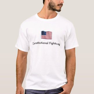 Constitutional Fights US Flag T-Shirt