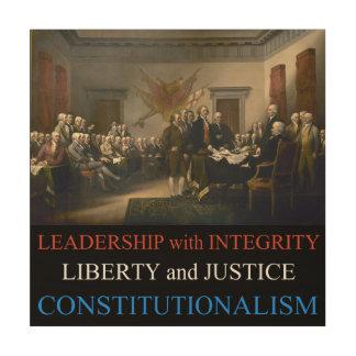 Constitutionalism Wood Print