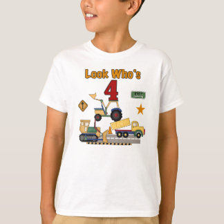 Construction 4th Birthday T-Shirt