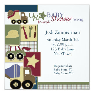 construction_baby_shower2, Jodi Zimmerman, Satu... Card