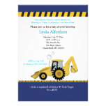 Construction Backhoe Baby Shower Invitation
