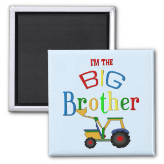 Construction Big Brother Gifts Square Magnet