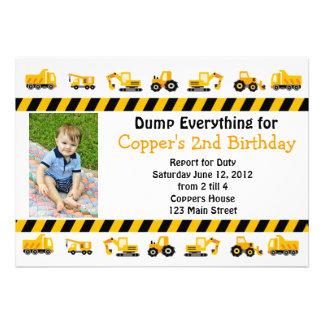 Construction Birthday Invitation