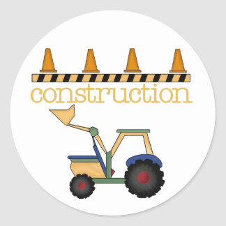 Construction Bucket Loader Classic Round Sticker
