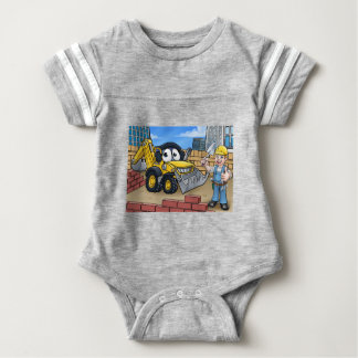 Construction Building Site Scene Baby Bodysuit