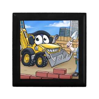 Construction Building Site Scene Gift Box