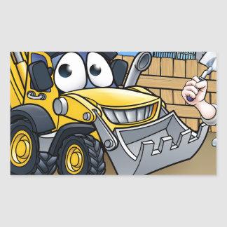 Construction Building Site Scene Sticker