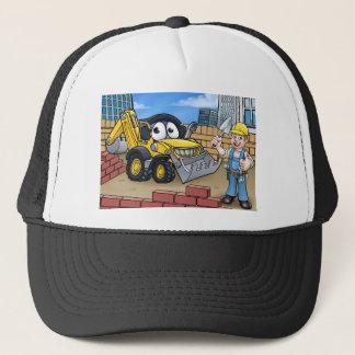 Construction Building Site Scene Trucker Hat