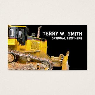 Construction Bulldozer Business Card