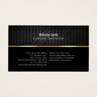 Construction Business Card Dark Texture