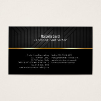 Construction Business Card Dark Texture