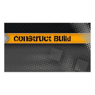 Construction Business Card Grunge grey dots