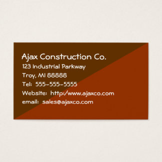 Construction Card For Builder Contractor