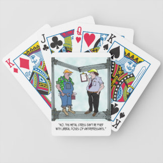 Construction Cartoon 1941 Bicycle Playing Cards