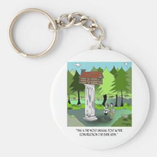 Construction Cartoon 6369 Basic Round Button Keychain