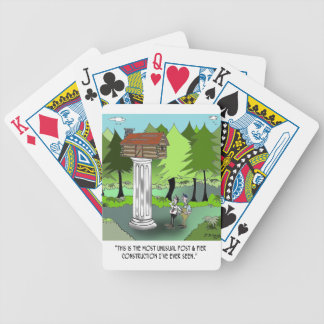 Construction Cartoon 6369 Bicycle Playing Cards