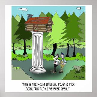 Construction Cartoon 6369 Poster