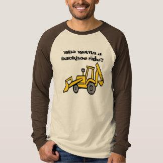 construction_clipart_backhoe, who wants a backh... T-Shirt