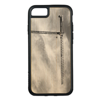 Construction Crane on Natural Wood Carved iPhone 8/7 Case