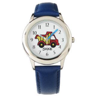 Construction Dump Truck Primary Colors Wristwatch