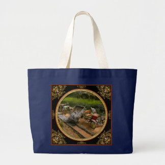 Construction - Dumping made easy 1925 Large Tote Bag