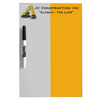 Construction Equipment Backhoe Dry Erase Board