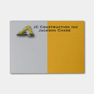 Construction Equipment Backhoe Post-it® Notes