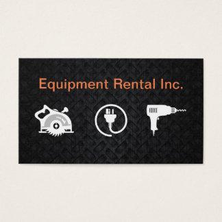 Construction Equipment Rental Service Business Card
