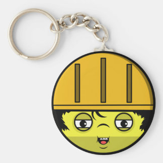 Construction Face Keychain