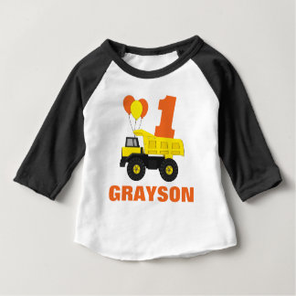 Construction First Birthday Outfit, T-Shirt