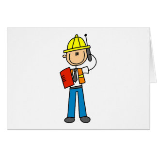 Construction Foreman on Cellphone Card