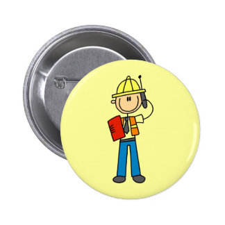 Construction Foreman T-shirts and Gifts Pinback Button