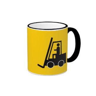 CONSTRUCTION FORKLIFT VEHICLE GRAPHIC LOGO COFFEE MUG