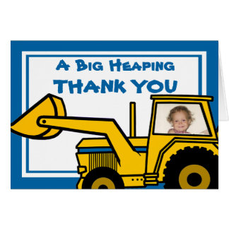 Construction Fun/ Backhoe Card