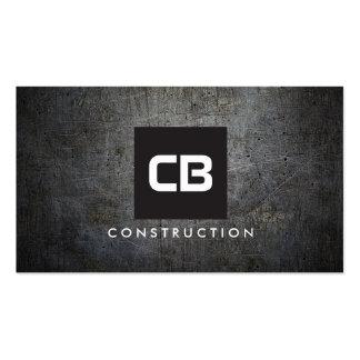 Construction grunge en métal de monogramme de carte de visite standard